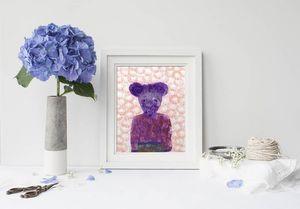 la Magie dans l'Image - print art ma petite souris fond rose - Poster