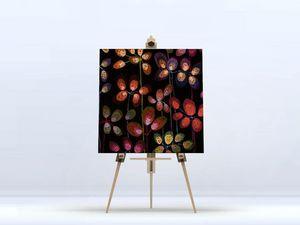 la Magie dans l'Image - toile beautiful flowers black - Digital Wall Coverings
