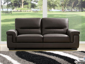 WHITE LABEL - canapé cuir 3 places sandy - 3 Seater Sofa