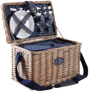 AUBRY GASPARD - panier pique-nique en osier gris - Picnic Basket