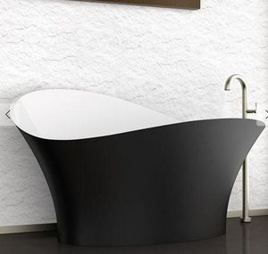 GLAss DESIGN - -flower style - Freestanding Bathtub