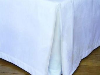 Liou - cache-sommier plis creux blanc - Bedskirt