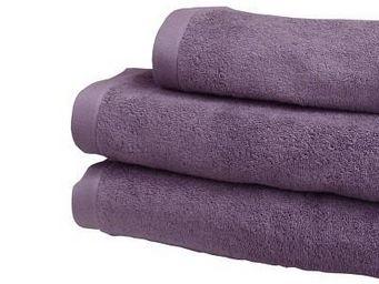 Liou - drap de douche prune grisé - Bath Sheet