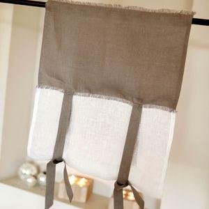MAISON D'ETE - store lourmarin gris - Net Curtain