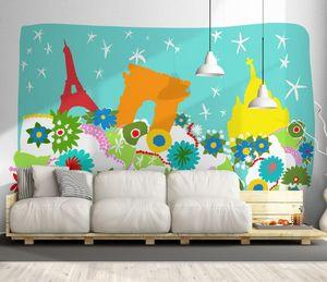 IN CREATION - paris pop 3 - Children's Wallpaper
