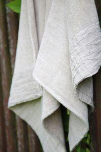 A GRUPE - linen terry fabrics - Tartan Rug