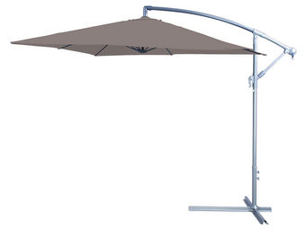 CEMONJARDIN - parasol déporté 250 x 250 taupe - Offset Umbrella