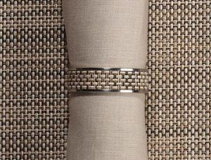 CHILEWICH - mini bw - Napkin Ring
