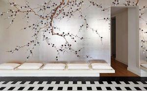 de Gournay - plum blossom - Panoramic Wallpaper