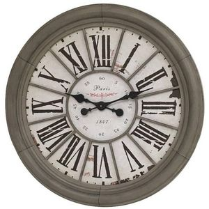 CHEMIN DE CAMPAGNE - grande horloge murale horloge de gare industrielle - Wall Clock