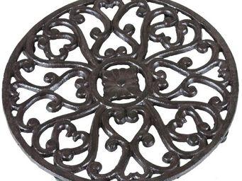 CHEMIN DE CAMPAGNE - dessous de plat repose plat en fonte ø 17.5 cm - Plate Coaster