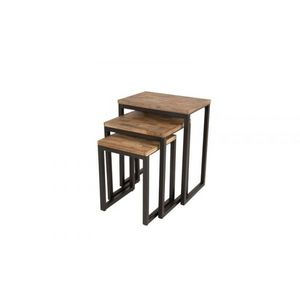 Mathi Design - tables gigognes bois et acier - Nest Of Tables