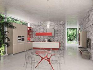 Snaidero - orange- - Modern Kitchen