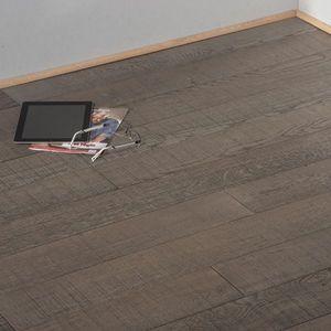 PARQUET CHENE MASSIF - aspect scie gris loft - Solid Parquet