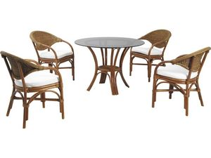 Aubry-Gaspard - salon de jardin en rotin et abaca - Garden Furniture Set