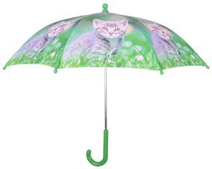 Esschert Design - parapluie chaton en métal et bois - Umbrella