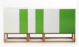 Habitek Works - stripe cabinet - Low Chest