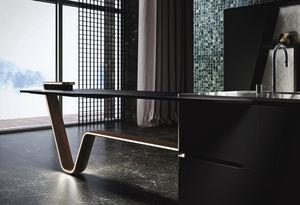 Snaidero - vision nero puro - Kitchen Worktop