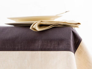 BORGO DELLE TOVAGLIE - smoke brown and swan - Rectangular Tablecloth