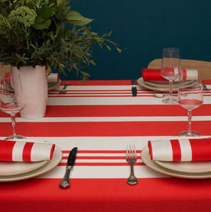Jean Vier - pampelune garance - Rectangular Tablecloth