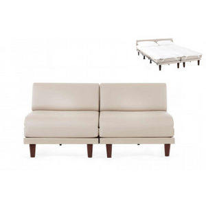 Likoolis - pacduo70s-cuirdevonblanc - Daybed