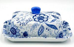 Porcelaines Saint-Thamar - blue asia - Butter Dish