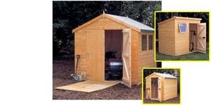 Halls Garden Products -  - Wood Garden Shed