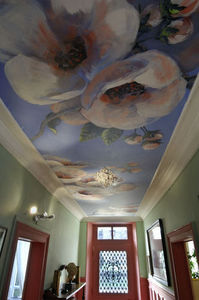 Fabienne Colin - fleurs - Stretched Ceiling Fabric