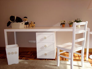 GRIS ALBA DECORACION - mesa estudio florida grande - Children's Desk