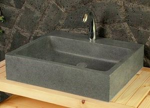 LIVING'ROC - lavabo en pierre (granit) alpha - Wash Hand Basin