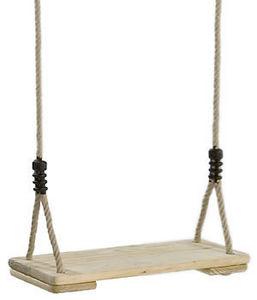 Kbt - balançoire en pin traité et cordes polypropylène - Swing