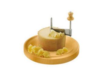 Tellier Gobel & Cie - frisette à fromage tête de moine socle en bois 22c - Cheese Scraper
