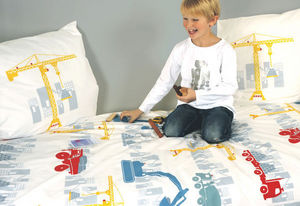 Fred the Dog - attention, chantier ! - Children's Duvet Cover