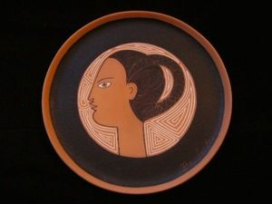 SYLVIA POWELL DECORATIVE ARTS - artemis (diane) - Decorative Platter