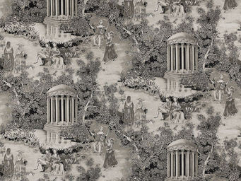 Equipo DRT - fontainebleau negro - Toile De Jouy Print Material