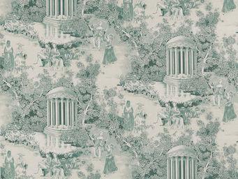 Equipo DRT - fontainebleau jade - Toile De Jouy Print Material