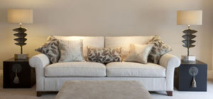 Marlborough Interiors - sitting room with a kingcome sofa covered in gp&j - Living Room