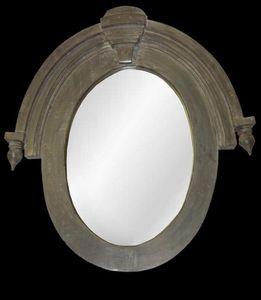 Hickory Manor House - 19th century window mirror - Porthole Mirror