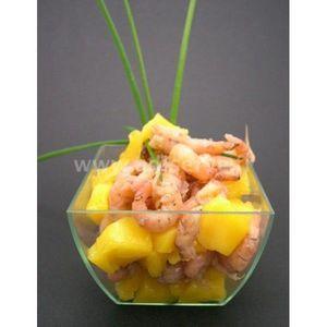 Adiserve - petit bol carré bombé par 25 - Appetizer Dish