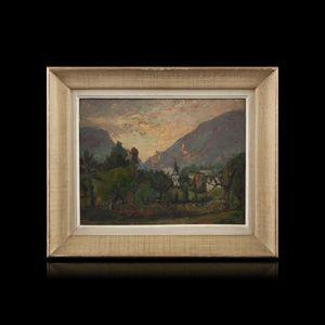 Expertissim - jean joseph ernest communal. la motte en beauges, - Landscape Painting