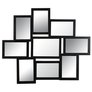 MAISONS DU MONDE - miroir 9 vues relief noir - Mirror
