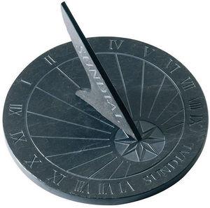 Esschert Design - cadran solaire à poser en schiste 24,5cm - Sundial