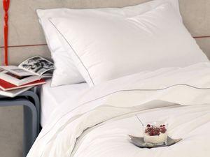 BLANC CERISE - housse de couette - percale (80 fils/cm²) - uni, p - Bed Linen Set