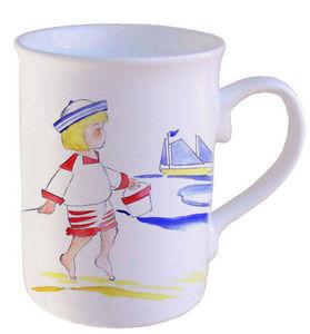 PORCELAINE CLAUDIE FRANEL - forme droite anglaise - Mug