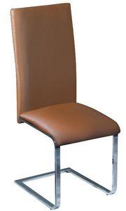 COMFORIUM - chaise de salle à manger desing coloris marron et  - Chair