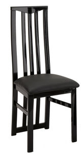 COMFORIUM - lot de 2 chaises noires garnies de strass - Chair