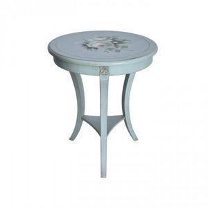 Demeure et Jardin - gueridon rond peint - Pedestal Table