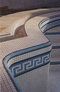 Emaux de Briare - cascade/harmonies - Pool Tile