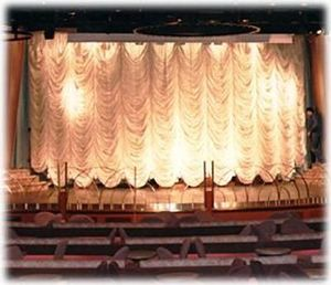 AMI A LENGLART - music-hall. - Picture Curtain