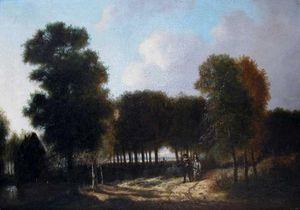 Bauermeister Antiquités - Expertise - paysage animé de personnages - Landscape Painting